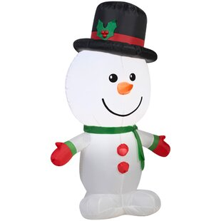 airblown outdoor snowman inflatable by the holiday aisle