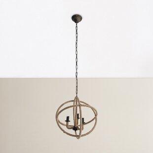 Beachcrest Home Dazelle 3-Light Globe Chandelier