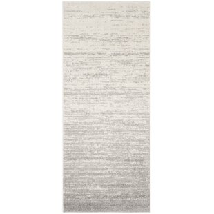 grey kitchen rugs farmhouse style kitchen mcguire ivorysilver area rug kitchen rugs youll love wayfair