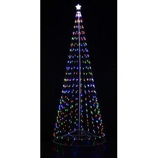 Outdoor christmas light displays youll love wayfair outdoor led cone tree aloadofball