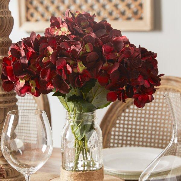 Sugarmill Hydrangea Floral Arrangement In Mason Jar Reviews Birch Lane