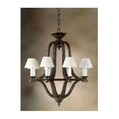 capital lighting hutton 6 light shaded chandelier reviews wayfair