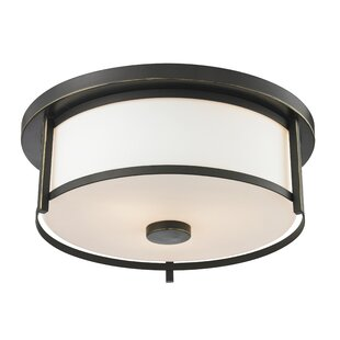 Breakwater Bay Crumley 2-Light Flush Mount