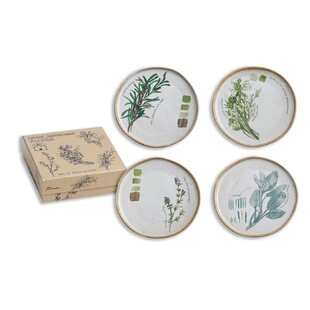Farm To Table Herbs 4 Piece Appetizer Plate