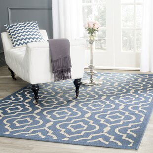 Larson Blue/Beige Indoor/Outdoor Area Rug