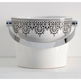 Find a Bucket Ceramic Circular Vessel Bathroom Sink with Overflow ByScarabeo by Nameeks