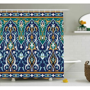 Arthurs Hippie Tribal Figures Shower Curtain + Hooks