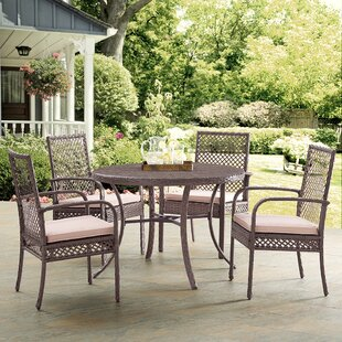 Beachcrest Home Stalder 5 Piece Dining Set with Cushions