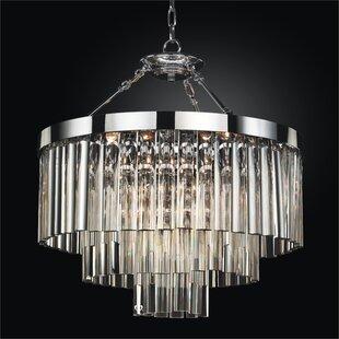 Glow Lighting Wind Chime 6-Light Chandelier