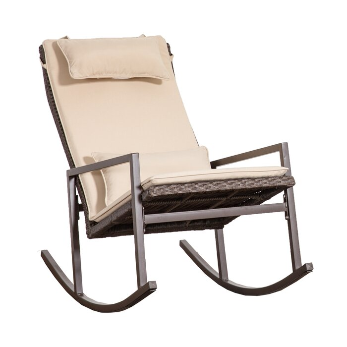 new style 51051 c9565 Tremberth Outdoor Rocking Chair with Cushion