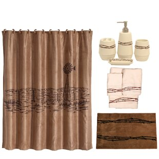 Barbwire 21 Piece Shower Curtain Set by East Urban Home New