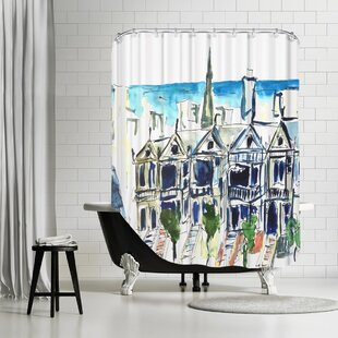 Markus Bleichner Akridge San Francisco Victorian Houses Single Shower Curtain