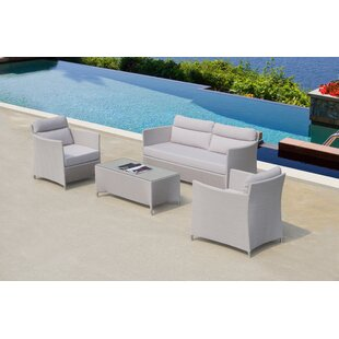 Heenan 4 Piece Sofa Set with Cushions