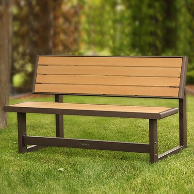 Astonishing Lifetime Convertible Wood Park Bench Color Brownsimulated Wood Creativecarmelina Interior Chair Design Creativecarmelinacom