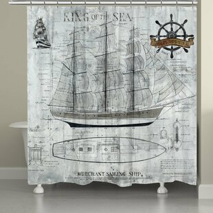 King of the Sea Single Shower Curtain