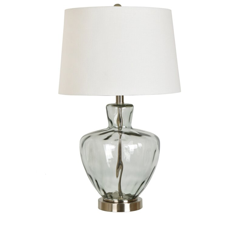 Highland dunes skyla glass and metal 25 table lamp reviews wayfair skyla glass and metal 25 table lamp mozeypictures Images
