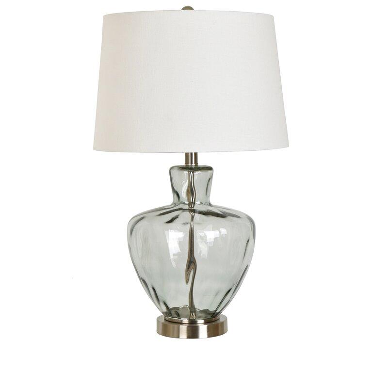 Skyla glass and metal 25 table lamp