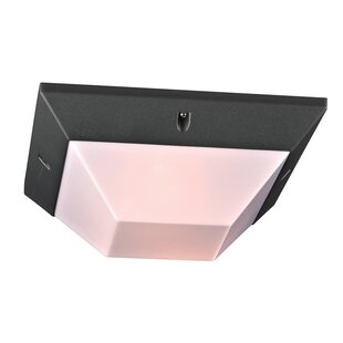 Winston Porter Kempner 1-Light Outdoor Flush Mount