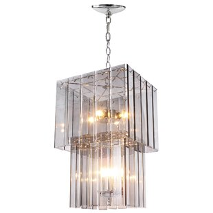 Mercer41 Raquel 4-Light Square/Rectangle Chandelier