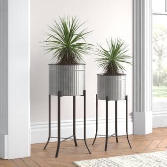 Girdler 3 Piece Ceramic Pot Planter Set Reviews Joss Main
