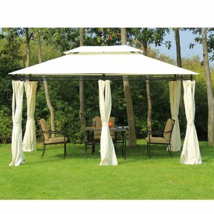Outsunny 13 Ft. W x 10 Ft. D Steel Patio Gazebo