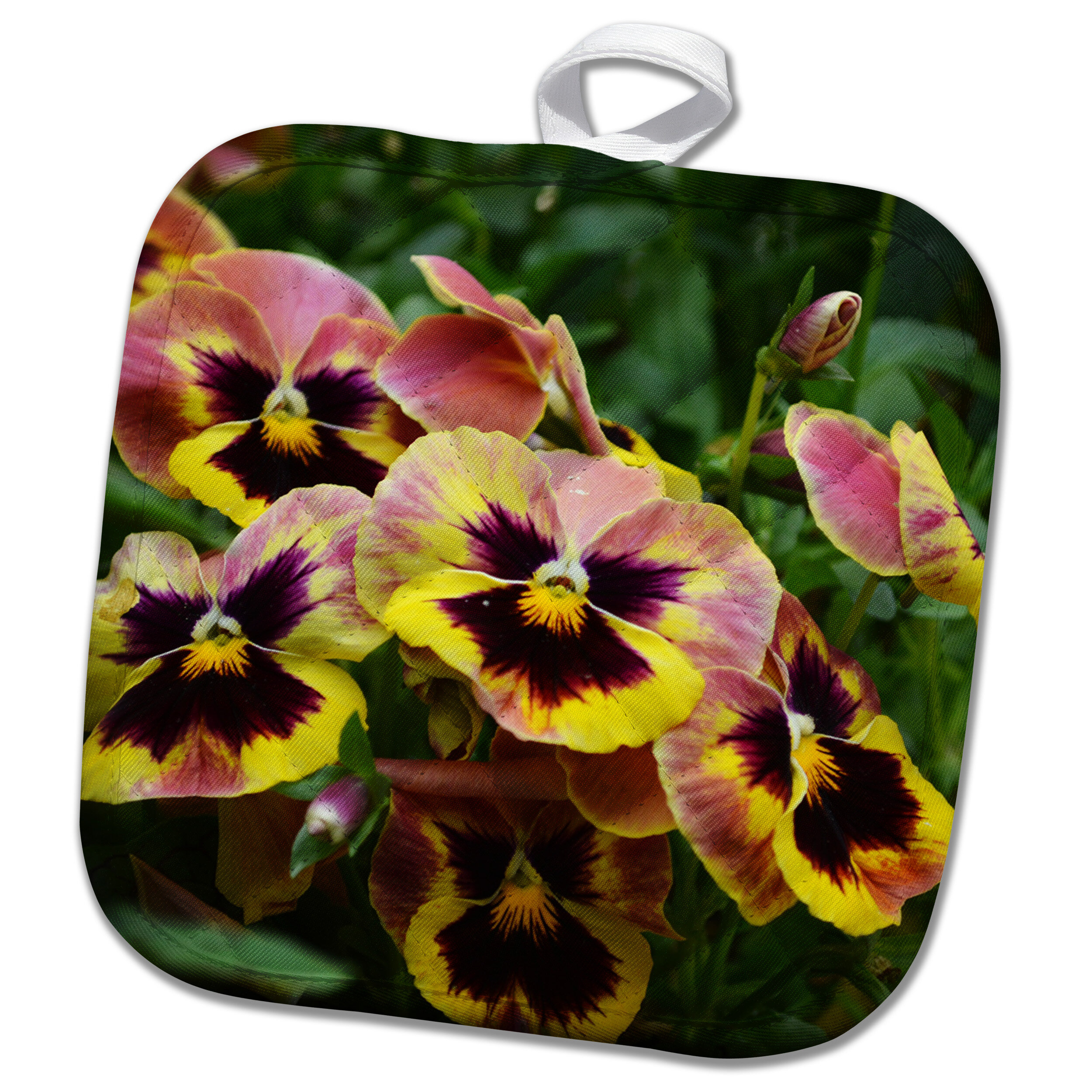 3drose Beautiful Bed Of Pansy Flowers Is A Photo Of Autumnpansies Potholder Wayfair