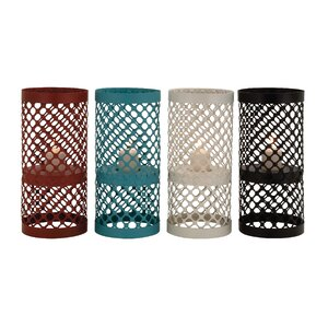 4 Piece Metal Hurricane Set (Set of 4)
