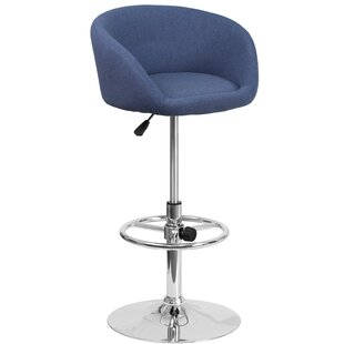 Orren Ellis Nordin Adjustable Height Swivel Bar Stool
