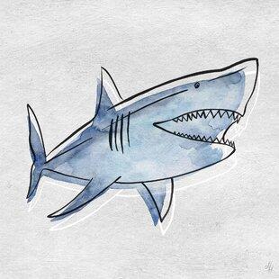 Quintin Great Blue Shark Canvas Art by Viv   Rae