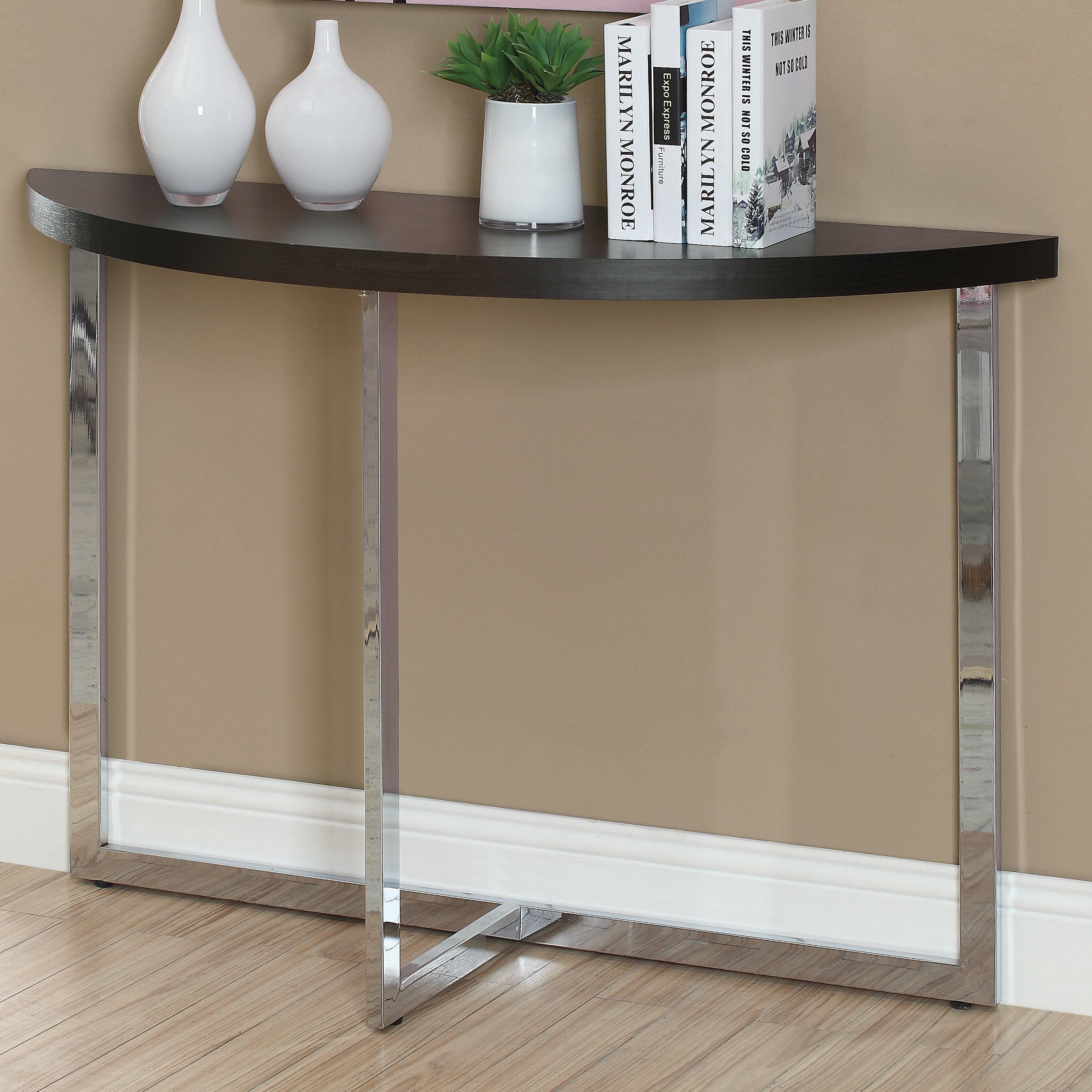 half moon console table Monarch Specialties Inc. Half Moon Console Table | Wayfair half moon console table