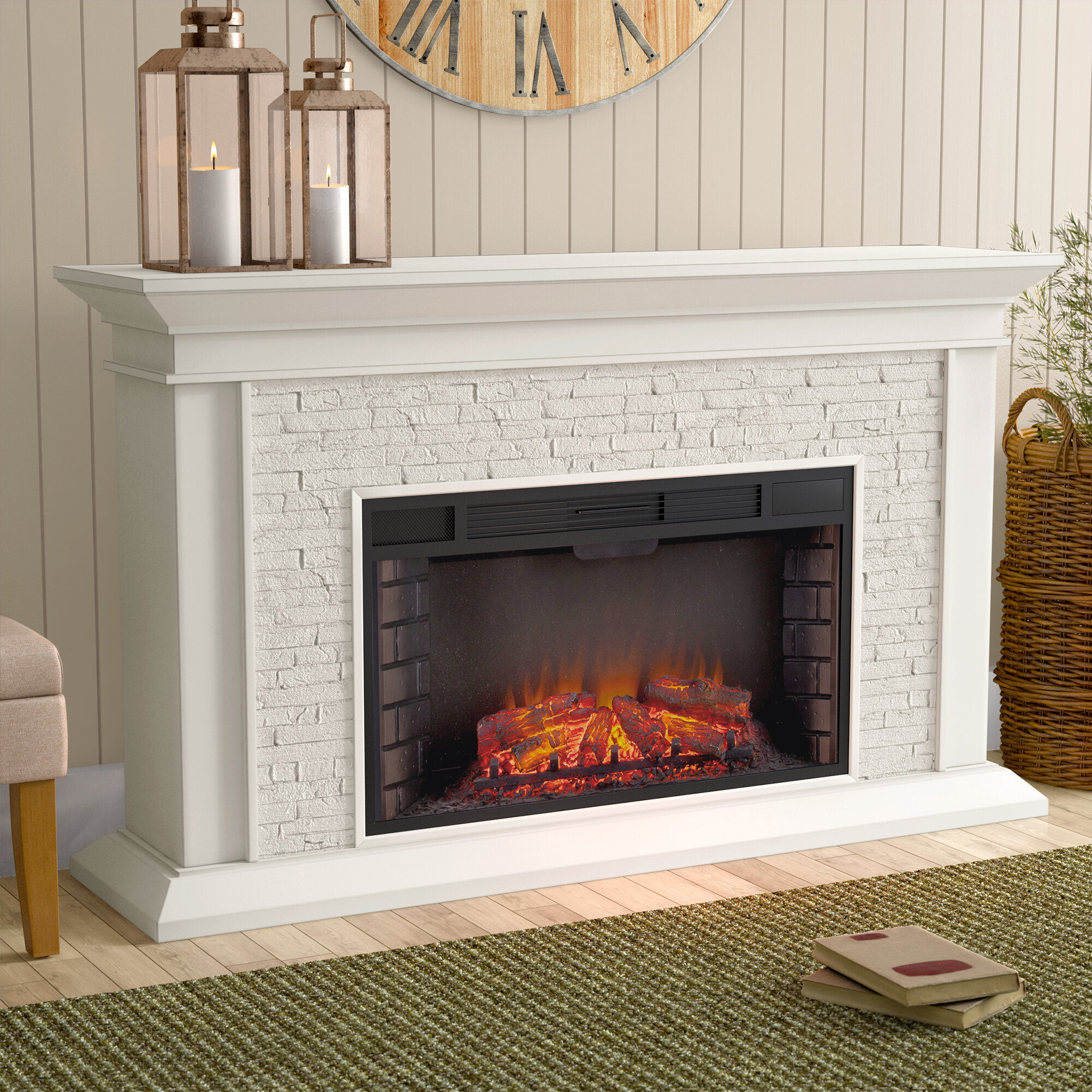 Camilla Simulated Electric Fireplace
