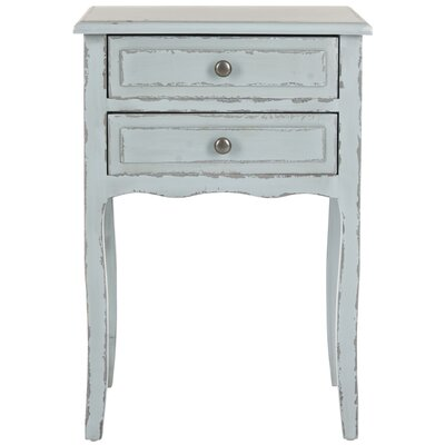Philipston 2 Drawer Nightstand Color: Slate Green by Andover Mills
