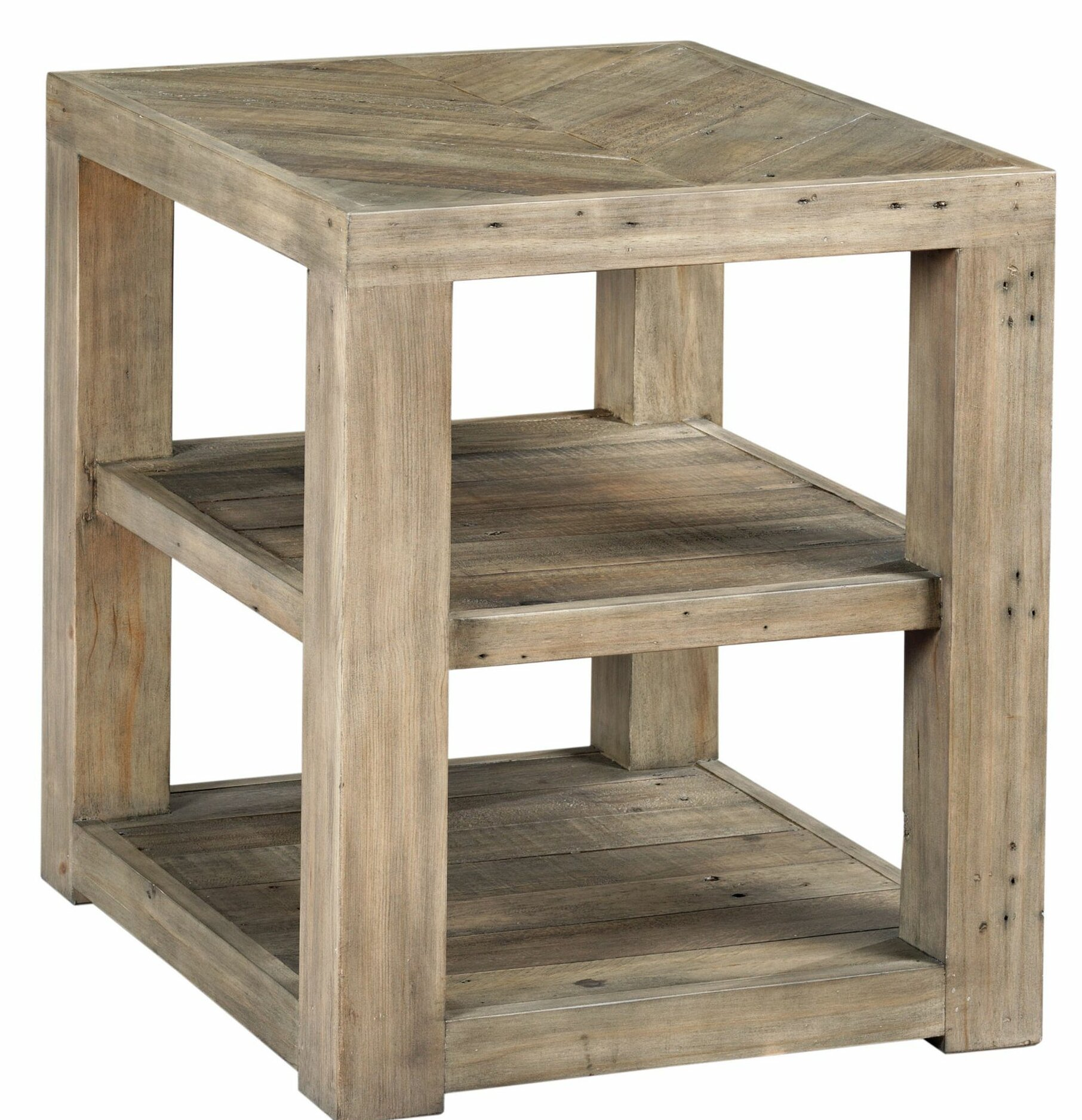 Highland Dunes Wesley Floor Shelf End Table With Storage Wayfair