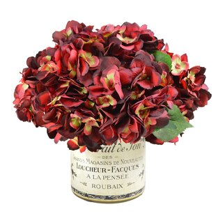 Hydrangea Bouquet in French Label Pot Floral Arrangement