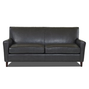 Grayson Leather Sofa by Wayfair Custom Uphol..