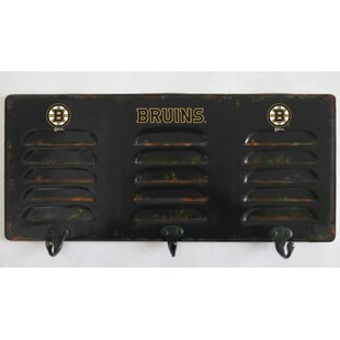 NHL 3 Hook Metal Locker Coat Rack