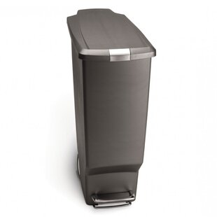 simplehuman 10.6 Gallon Slim Step Trash Can, Plastic