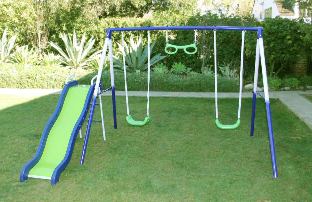 metal swing set backyard swing sets home outdoor decoration best