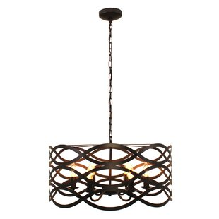 Hidalgo Transitional Ceiling 6-Light Drum Chandelier