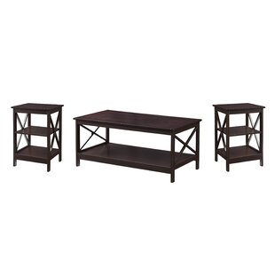 Beachcrest Home Stoneford 3 Piece Coffee Table Set