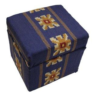 Isabelline Spates Cube Ottoman