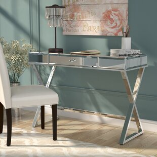 Willa Arlo Interiors Adina Campaign Glass Writing Desk