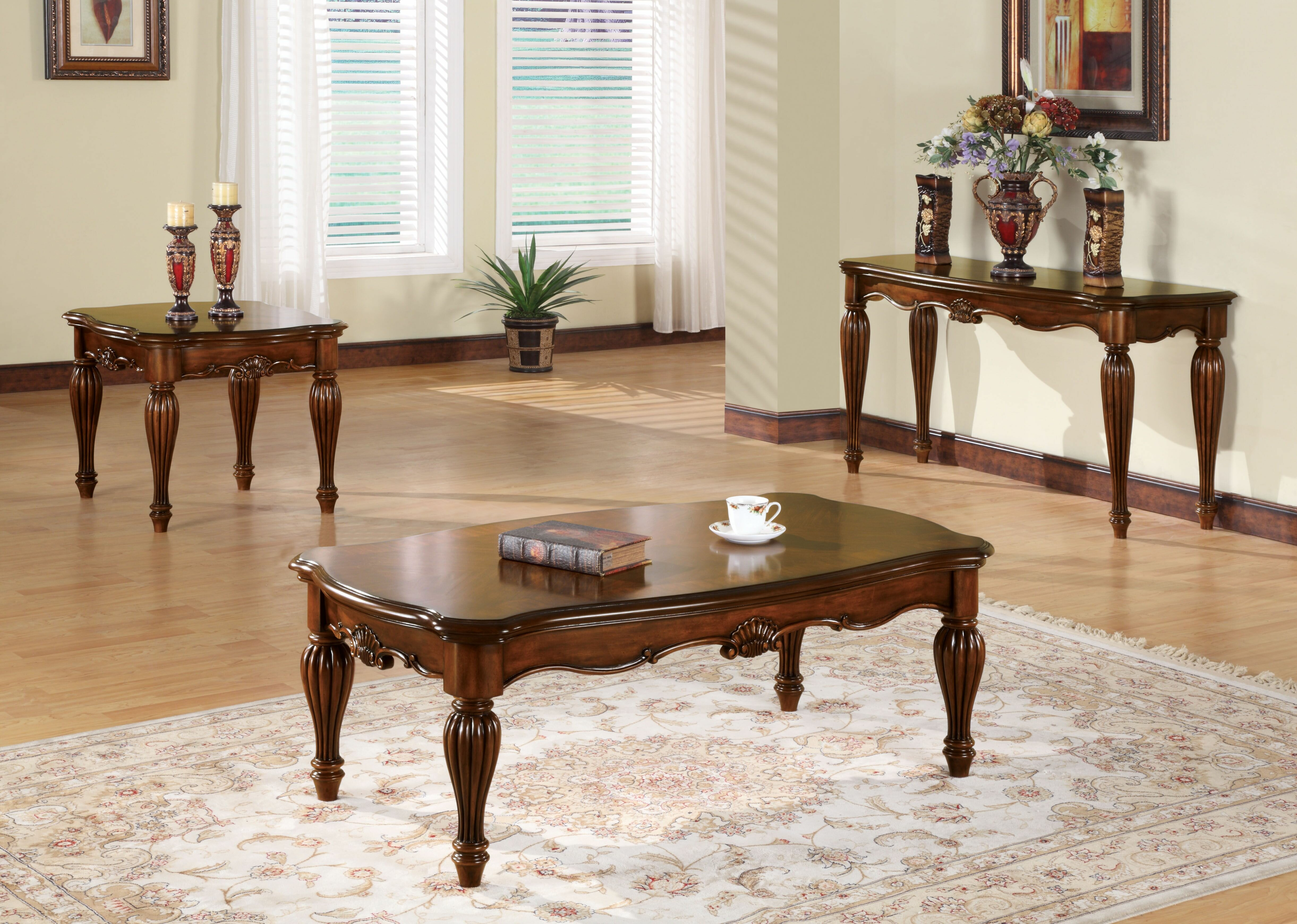 Astoria Grand Mccauley 3 Piece Coffee Table Set Wayfair