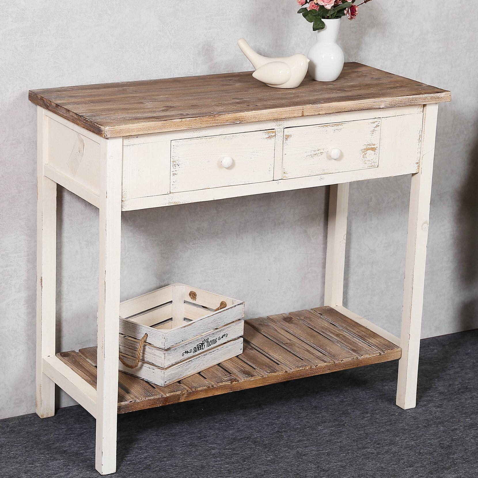 August Grove Shila 35 4 Solid Wood Console Table Reviews Wayfair