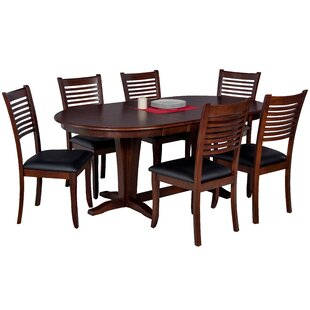 Darby Home Co Doretha 7 Piece Wood Dining Set with Dual Pedestal Table