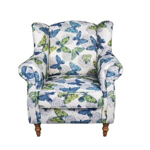 Juliette Butterfly Wingback Chair by Red Barrel Studio