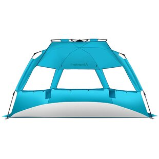 1ff241c3a97f Super Bluecoast Beach Umbrella Sun Shade Outdoor Automatic Pop Up UV  Protection Canopy 4 Person Tent