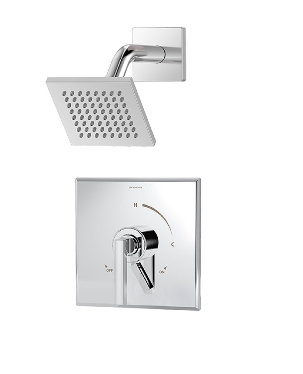 Symmons Duro 1 Handle Shower Valve Faucet Trim Kit With Square Showerhead And Lever Handle Wayfair
