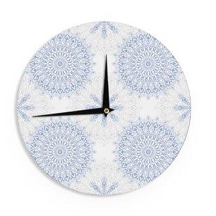 Julia Grifol U0027Mandalas In Blueu0027 12 Wall Clock By East Urban Home