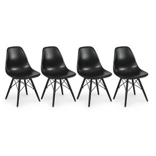 Molded Plastic Side Chair (Set of 4) by Belleze